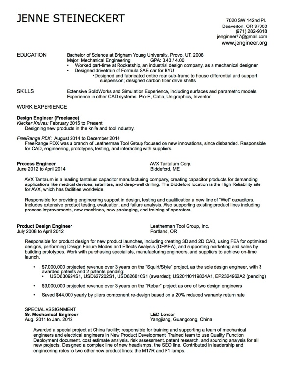 Resume_JSteineckert 8-15-15